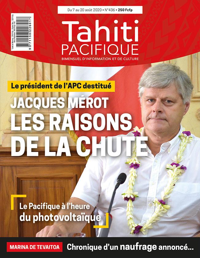 À la UNE de Tahiti Pacifique vendredi 7 août 2020