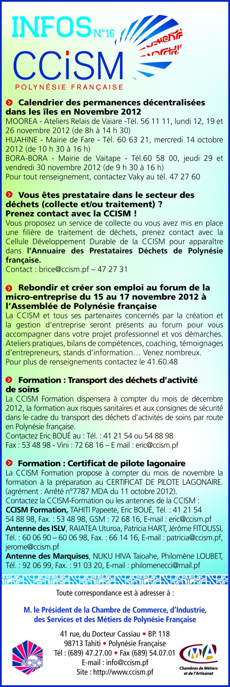 Infos CCISM N°16