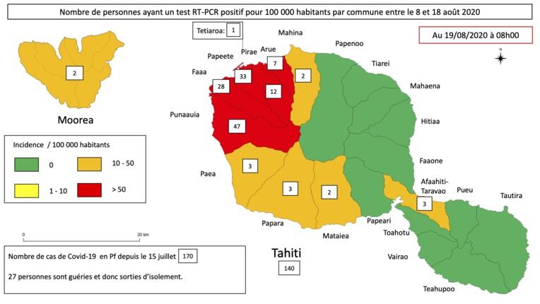 Covid : Punaauia, Papeete et Faa'a premiers foyers