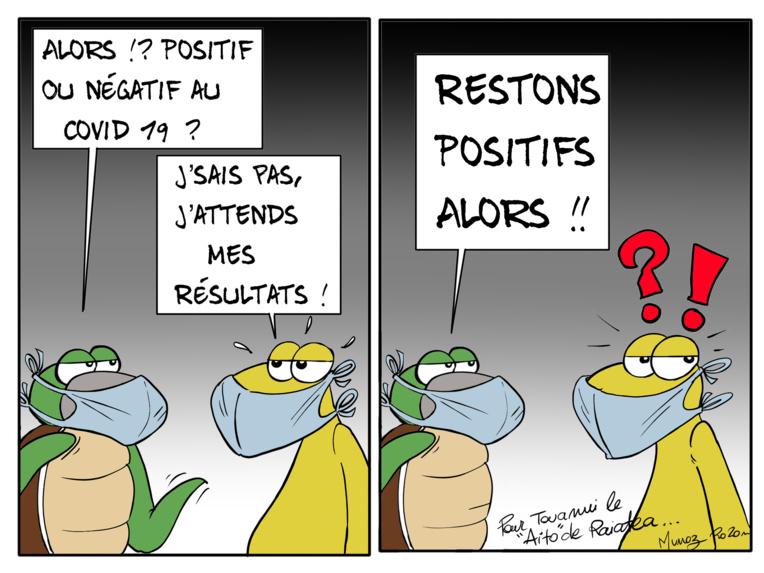 """Restons positifs"", par Munoz"