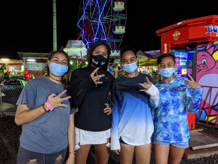 Yuyu, Tea, Naley et Moehau sont venues pour s'amuser.