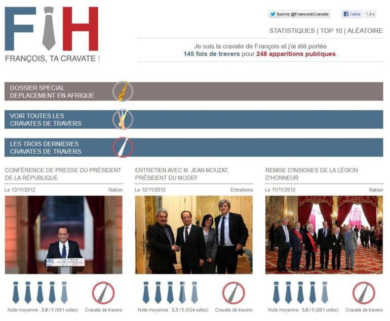 De travers ou pas ? des internautes auscultent la cravate du président