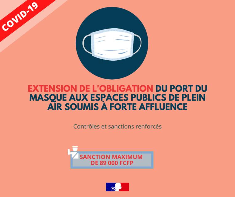 Le masque obligatoire dans les espaces publics