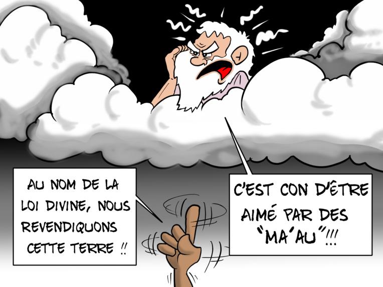 """""""Pas de marae pour les ma'au"""", par Munoz"""