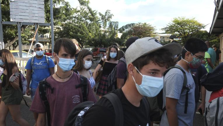 Le masque obligatoire dans l'hyper-centre de Papeete