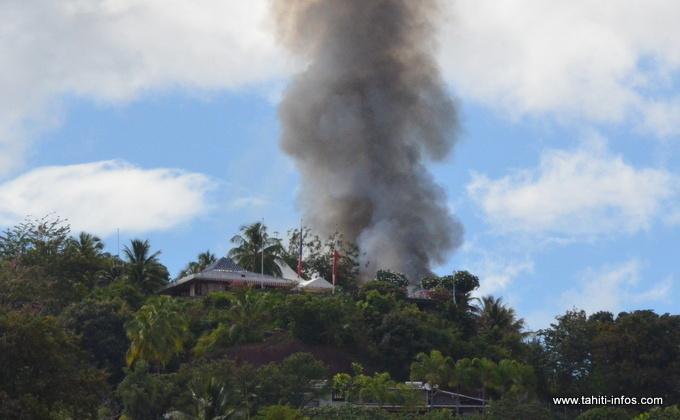 Vetea : la maison de Gaston Flosse détruite par les flammes (màj)