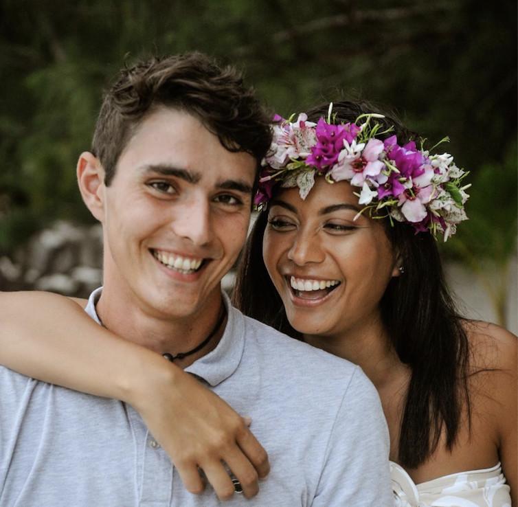 Vaimalama Chaves et son petit ami, Nicolas Fleury, un sportif de haut niveau en VTT Trial. Crédit Instagram Vaimalama Chaves