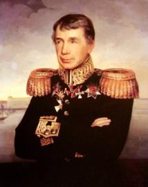 """Un portrait de Krusenstern, devenu héros national russe après son tour du monde. Il n'a jamais évoqué """"sa"""" mutinerie de Nuku Hiva dans ses écrits postérieurs à l'expédition."""