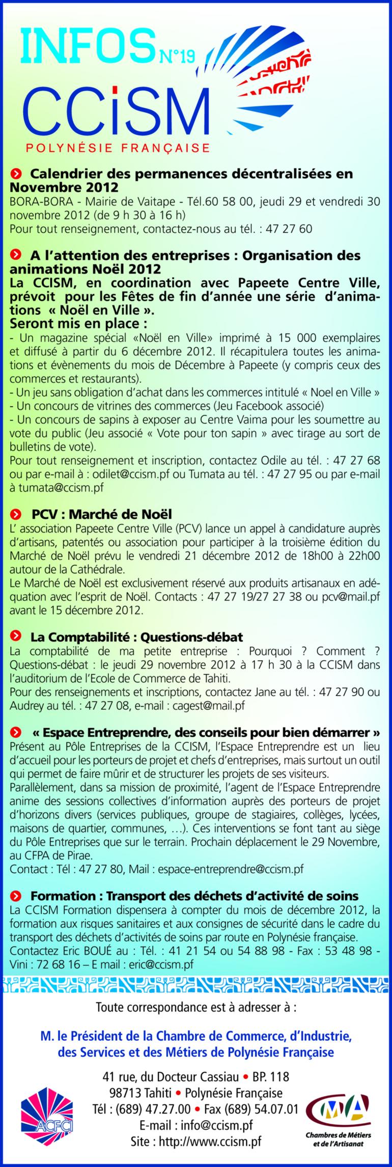 Infos CCISM N°19