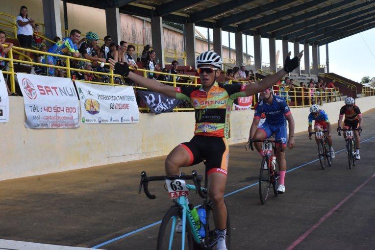 Kahiri Endeler lors de sa victoire en juillet dernier à la Cyclo Malmezac.