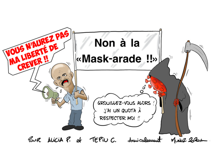 """Mask-arade"", par Munoz"