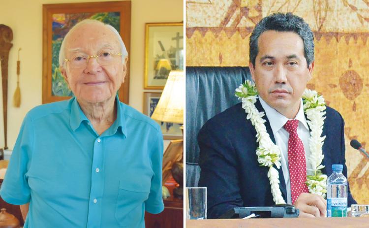 Chargés d'études de l'APF : Gaston Flosse et Marcel Tuihani témoins assistés