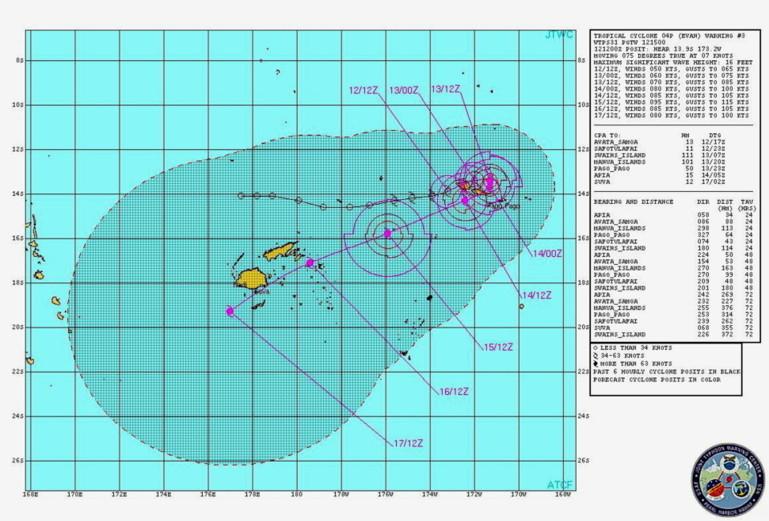 Samoa: Apia se prépare à affronter le cyclone Evan