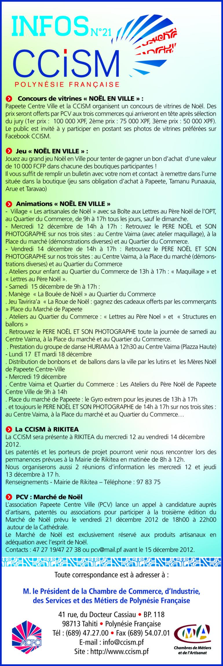 Infos CCISM N° 21