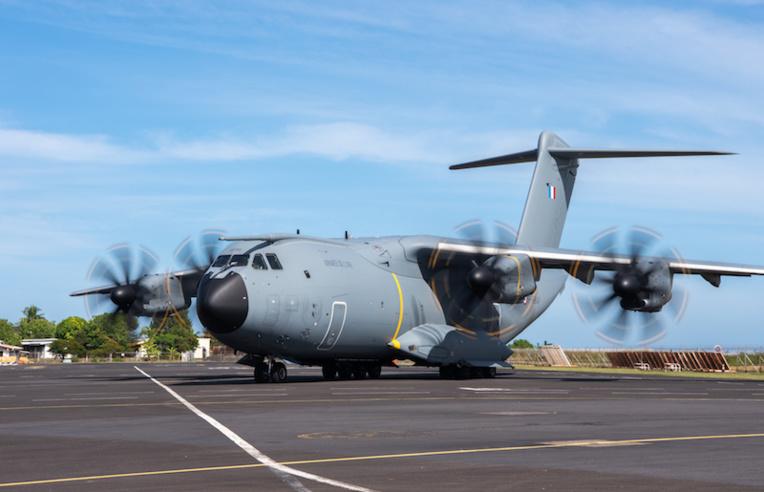 L'A400M de retour en Polynésie
