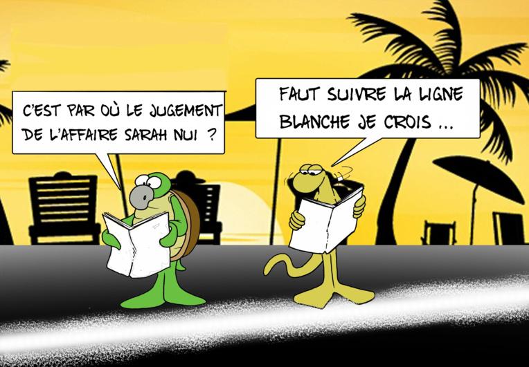 """""""La ligne blanche"""", par Munoz"""
