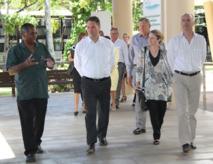 Richard Marles, Secrétaire d'Etat australien pour les affaires étrangères, a été reçu par la Communauté du Pacifique Sud