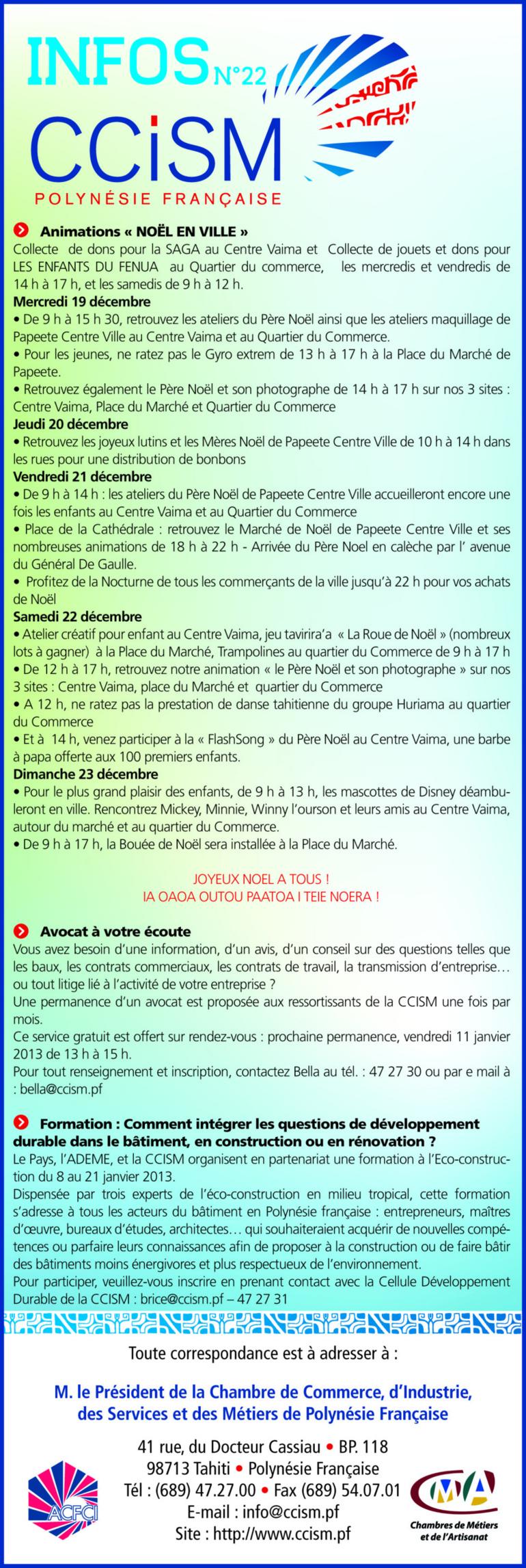 Infos CCISM N° 22
