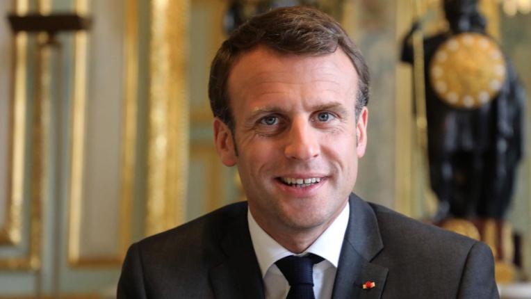 Emmanuel Macron, le 12 avril. PHOTO AFP