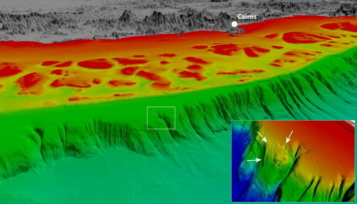 Australie: Une plaque près de la Barrière de corail en voie d'effondrement