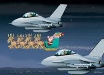 La défense aérienne américaine suit la tournée du père Noël pas à pas