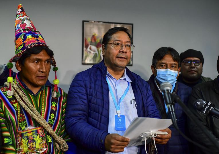 Bolivie: Luis Arce, dauphin d'Evo Morales, vainqueur de la présidentielle