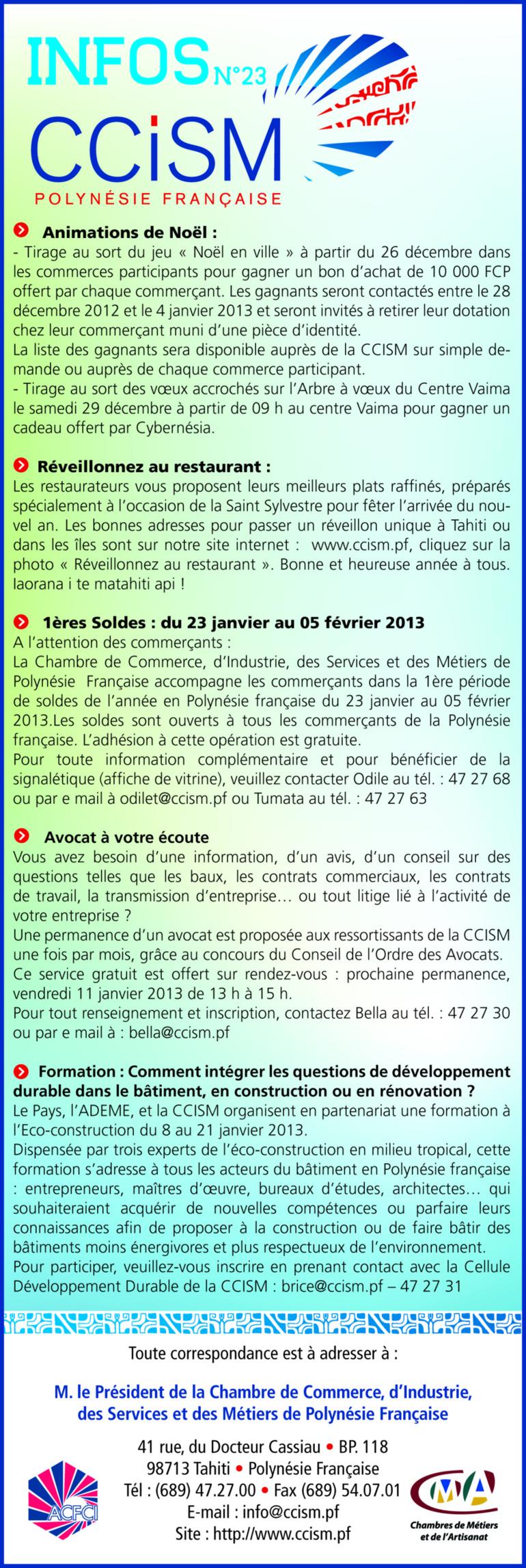 Infos CCISM N°23