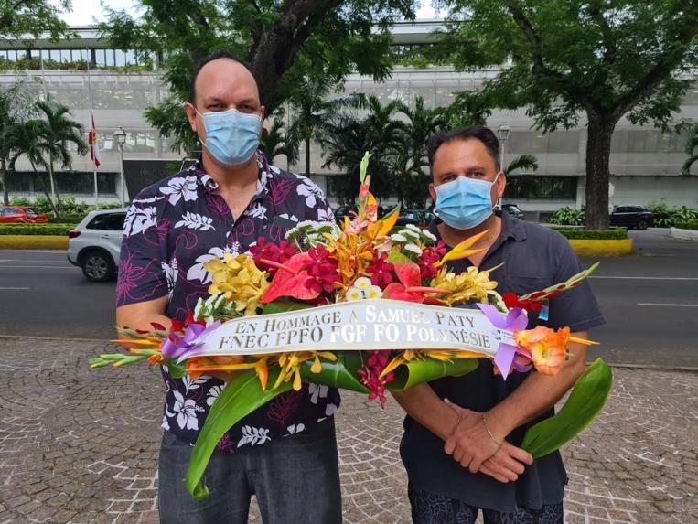 Hommage à Samuel Paty à Papeete