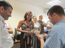 Anne-Caroline Graffe lors de sa visite à la DSP (direction de la sécurité publique) en octobre dernier à Papeete.