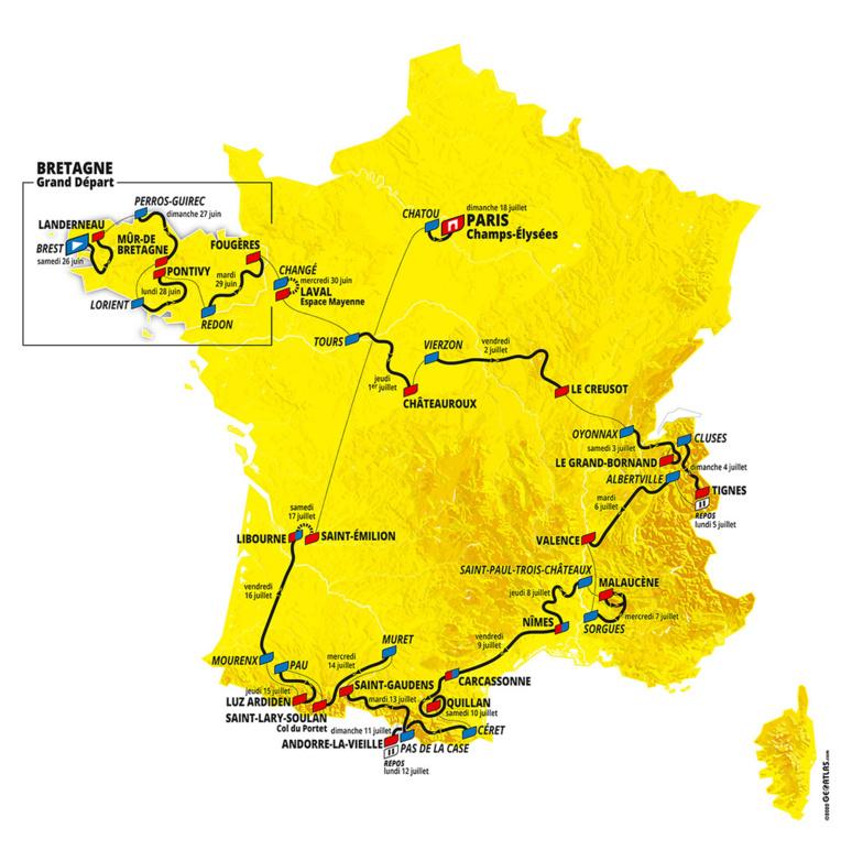 Tour de France: le Ventoux par deux fois en juillet