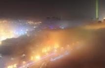 Le nord et l'est de la Chine enveloppés dans un épais brouillard polluant