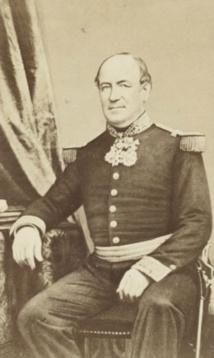 Louis Tardy de Montravel, fondateur de Port-de-France le 25 juin 1854. Le nom indigène du site était Numéa.