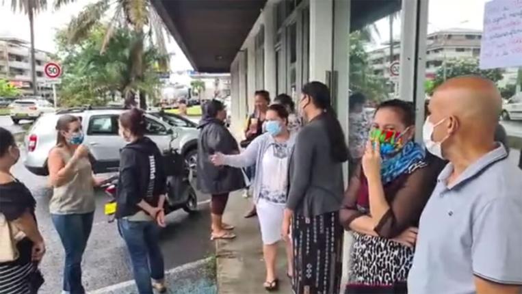 Les assistants sociaux de Papeete ont débrayé une heure mardi matin pour protester contre l'agression de leur collègue.