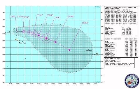 La dépression tropicale GARRY fait route vers la Polynésie avec une possible évolution en cyclone