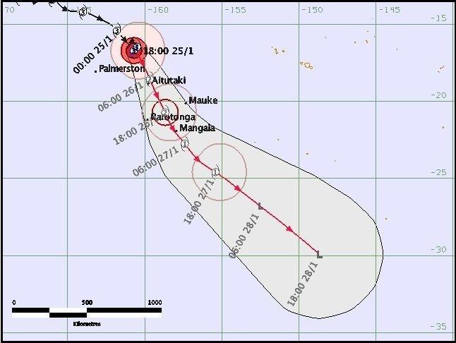 Cyclone Garry: Mise en garde des habitants des îles Australes ouest (Rimatara – Rurutu)