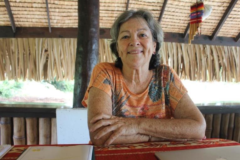 Tita Maurin, présidente du club Soroptimist de Tahiti