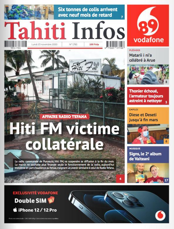 TAHITI INFOS N°1783 du 23 novembre 2020