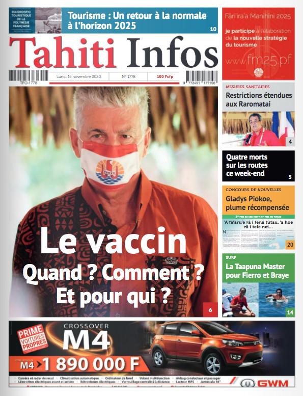 TAHITI INFOS N°1778 du 16 novembre 2020