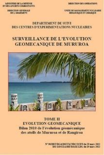 Le dernier rapport publié en mars 2012 sur les observations 2010.