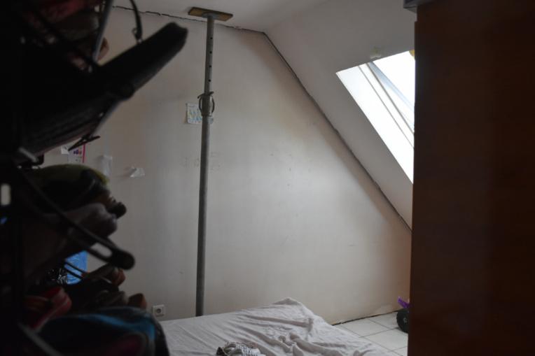 La chambre des enfants chez Miriama au 5e étage.