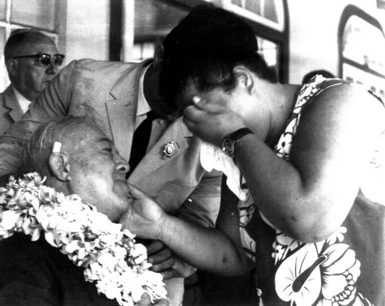 Pouvanaa en 1968, peu après son retour d'exil