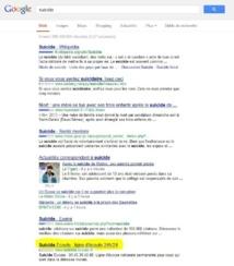 """En tapant """"suicide"""" dans Google, les coordonnées de SOS Amitié apparaissent"""