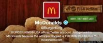 Le compte Twitter de Burger King piraté et maquillé en compte... McDonald's