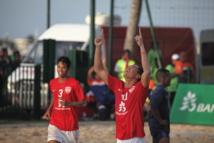 Beach Soccer: les Tiki Toa l'emportent 8 à 3 face à l'équipe de France