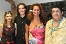 Catherine Chodzko, Brice Dumas (conseillers de l'élue), Sandra Lévy-Agami et Claude Savriacouty (en charge de l'organisation des séances).