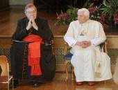 Photo d'archives: Georges Pelle aux côtés de Benoît XVI en 2008