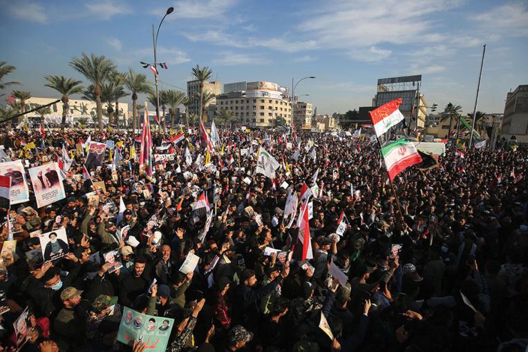 """""""Non à l'Amérique!"""": manifestations en Irak un an après la mort de Soleimani"""