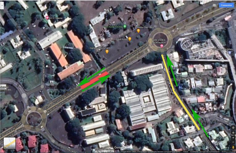 Circulation perturbée dans la zone de Taaone du 11 au 15 janvier