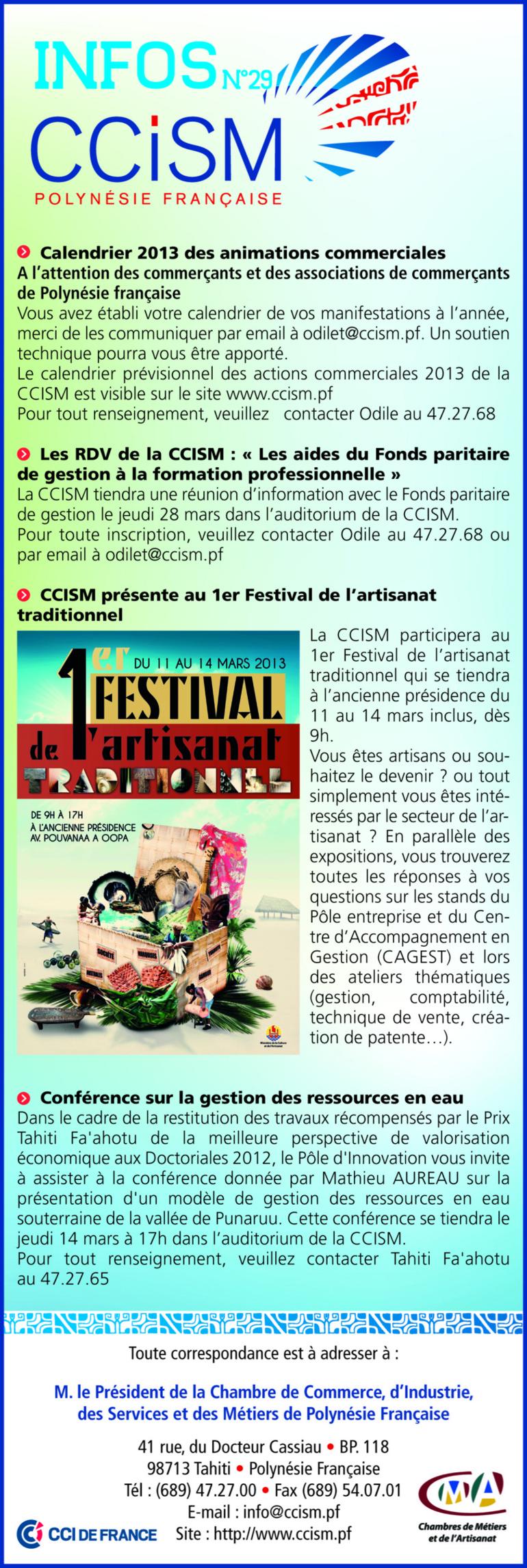 Infos CCISM N°29