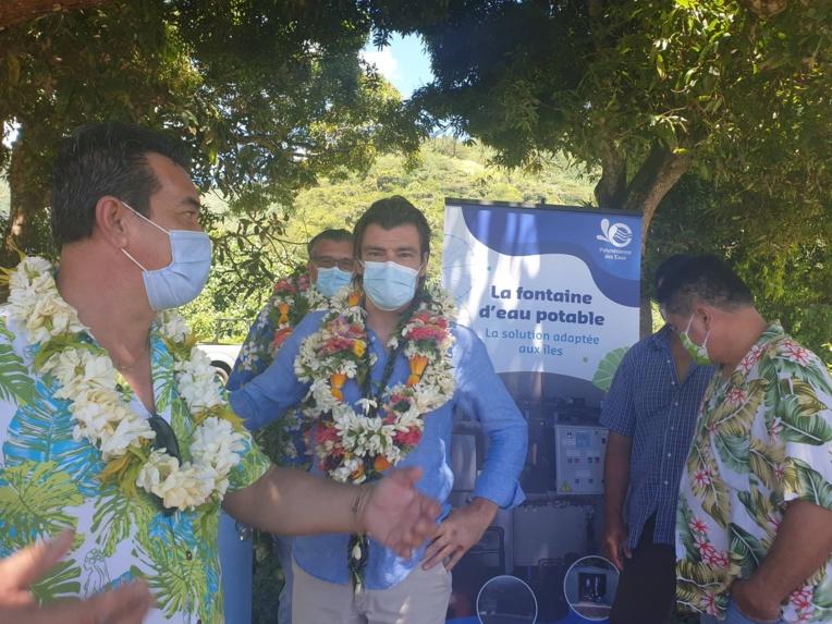 Visite éclair du directeur général délégué de Suez eau France